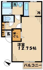 厚木駅 車20分7.7キロ1階Fの間取り画像