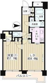 ラフィーネ阿佐谷8階Fの間取り画像