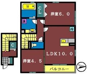 ロイヤルヒルズ P棟2階Fの間取り画像