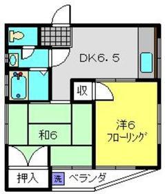 フジミハイツ3階Fの間取り画像