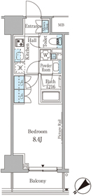 ルビア赤坂9階Fの間取り画像
