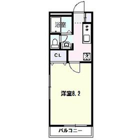湘南(新)パラシオン3階Fの間取り画像