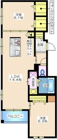 小倉5丁目メゾン2階Fの間取り画像