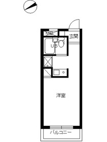 スカイコート新宿第74階Fの間取り画像
