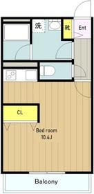 ドマーニ・Ⅰ2階Fの間取り画像