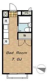 エステートピア アオキII2階Fの間取り画像