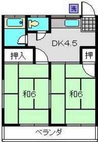 メゾン渡辺2階Fの間取り画像