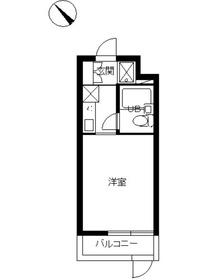 スカイコート鶴見第41階Fの間取り画像