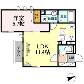 (仮)D-room下作延1階Fの間取り画像