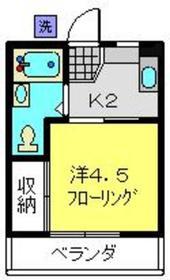 村田ハイツ2階Fの間取り画像