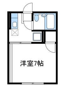 成瀬ハイツⅠ2階Fの間取り画像