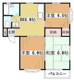 メゾンド・ブロンシュ2階Fの間取り画像