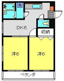 日吉マノワール2階Fの間取り画像