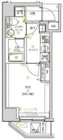 スパシエソリデ武蔵小杉7階Fの間取り画像