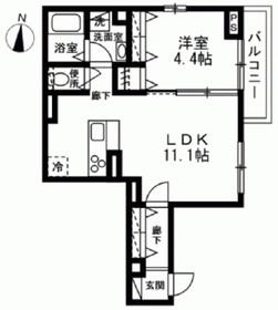 仮)江東区大島3丁目新築計画2階Fの間取り画像