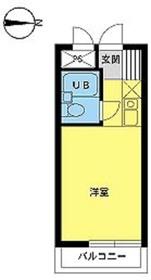スカイコート橋本24階Fの間取り画像