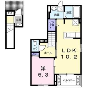 ラコリーヌ2階Fの間取り画像