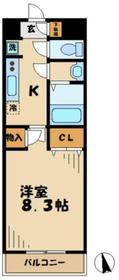 メゾンリベルテ2階Fの間取り画像
