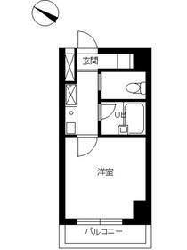 スカイコート日本橋人形町第21階Fの間取り画像