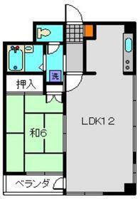 睦ビル4階Fの間取り画像