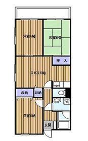 パインクレスト3号館5階Fの間取り画像