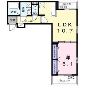 ブラウ アリエッタ2階Fの間取り画像