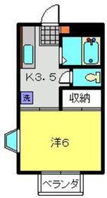 武蔵小杉駅 徒歩26分2階Fの間取り画像