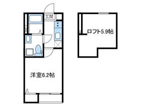ソラーレ2階Fの間取り画像