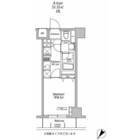 プラウドフラット荻窪Ⅱ4階Fの間取り画像