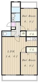 エクセラン・ヴィー2階Fの間取り画像