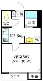 メゾン ウィステリア1階Fの間取り画像