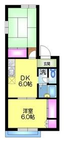 メゾン北習志野2階Fの間取り画像