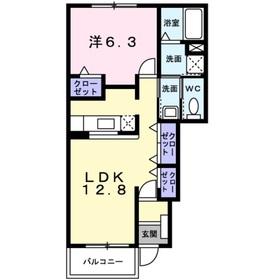 プログレスⅡ1階Fの間取り画像