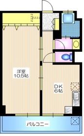 白金ビル6階Fの間取り画像