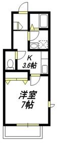 東松原駅 徒歩14分3階Fの間取り画像
