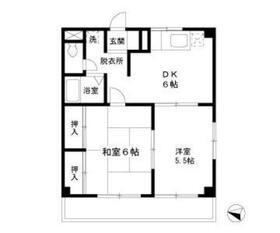 武蔵新城駅 徒歩13分2階Fの間取り画像