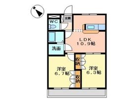 エトワールシャトー1階Fの間取り画像
