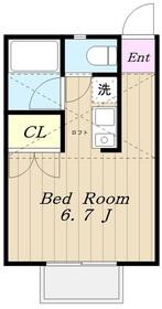 生田駅 徒歩12分1階Fの間取り画像