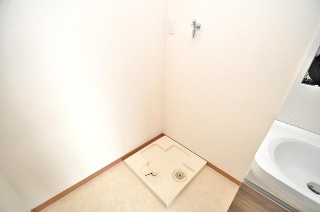 Mark Villa 巽中 室内に洗濯機置き場があれば雨の日でも安心ですね。