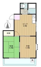 ハイツ栄光2階Fの間取り画像