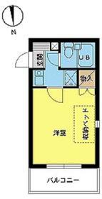 スカイコート新宿第54階Fの間取り画像