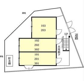 ヴィラ西横浜B棟配置図