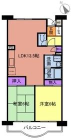 グリーンハイム飯田2階Fの間取り画像