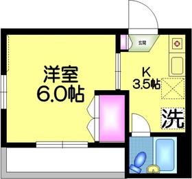 メゾンKS2階Fの間取り画像
