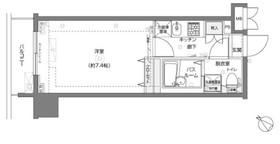 フェニックス横濱関内BAY MARKS11階Fの間取り画像