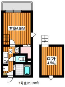 ヴィレッタ成増3階Fの間取り画像