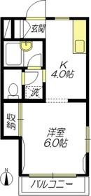 メゾンミネ2階Fの間取り画像