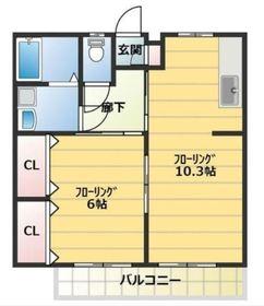 KN中島2階Fの間取り画像
