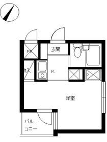 スカイコート西川口第58階Fの間取り画像