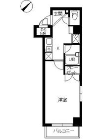 スカイコート日本橋人形町3階Fの間取り画像